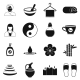 Spa Simple Icons Set  - GraphicRiver Item for Sale