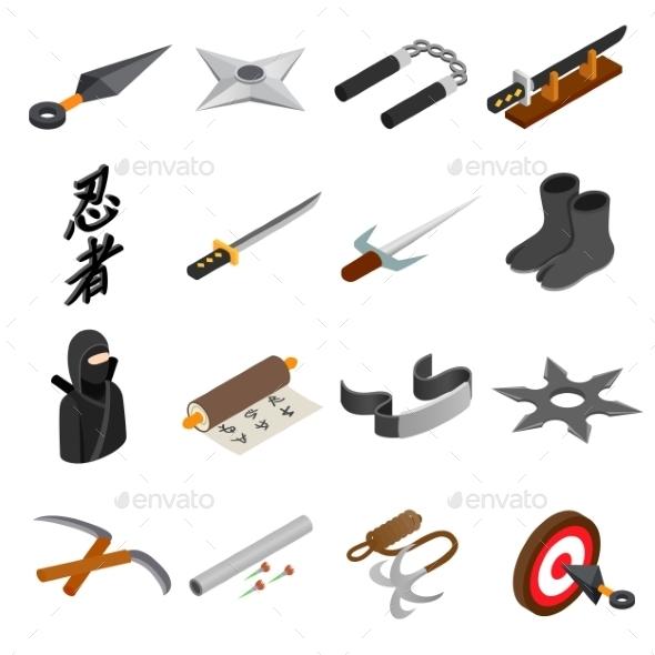 Ninja Isometric 3d Icon - Miscellaneous Icons