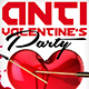 Anti Valentines Party Flyer Template - GraphicRiver Item for Sale