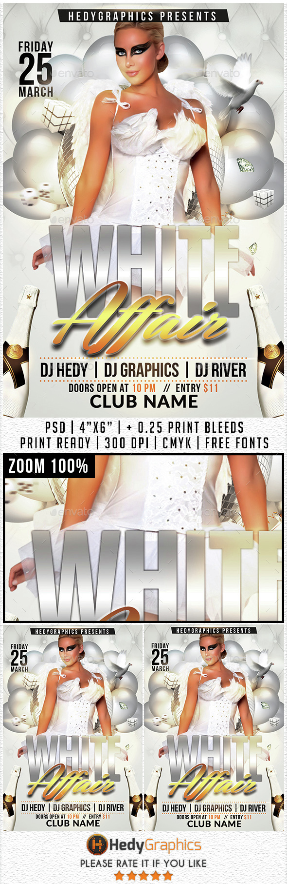 White affair - Flyer Template - Events Flyers