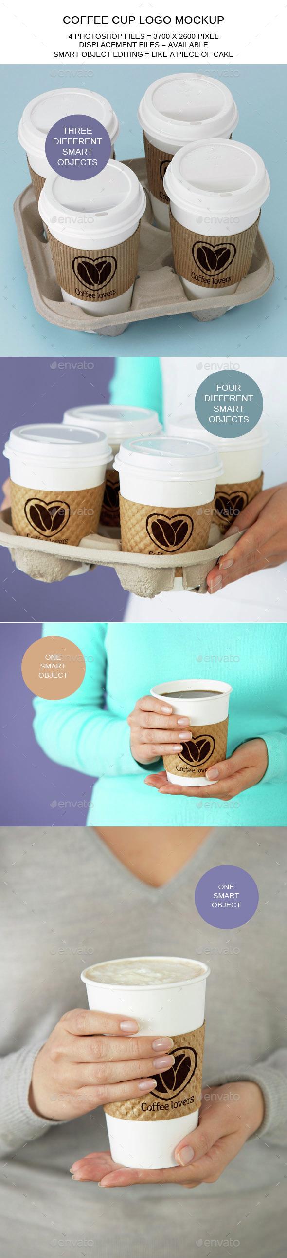 Coffee Cup Logo Mockups - Logo Product Mock-Ups