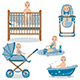 Baby in Various Position Set - GraphicRiver Item for Sale