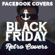 Retro Facebook Covers - Black Friday - GraphicRiver Item for Sale