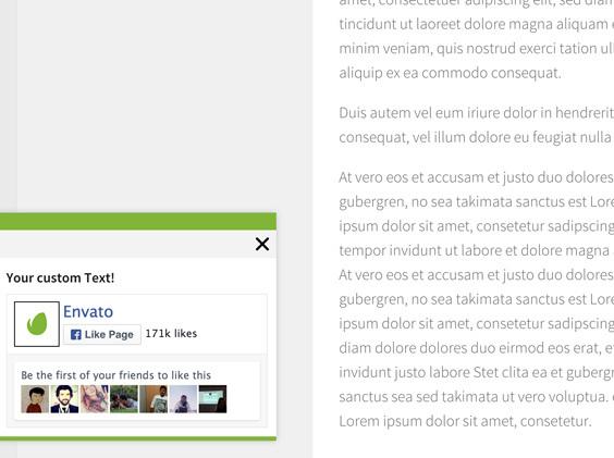 Popscroll: Social Popup Footer Box - jQuery Plugin