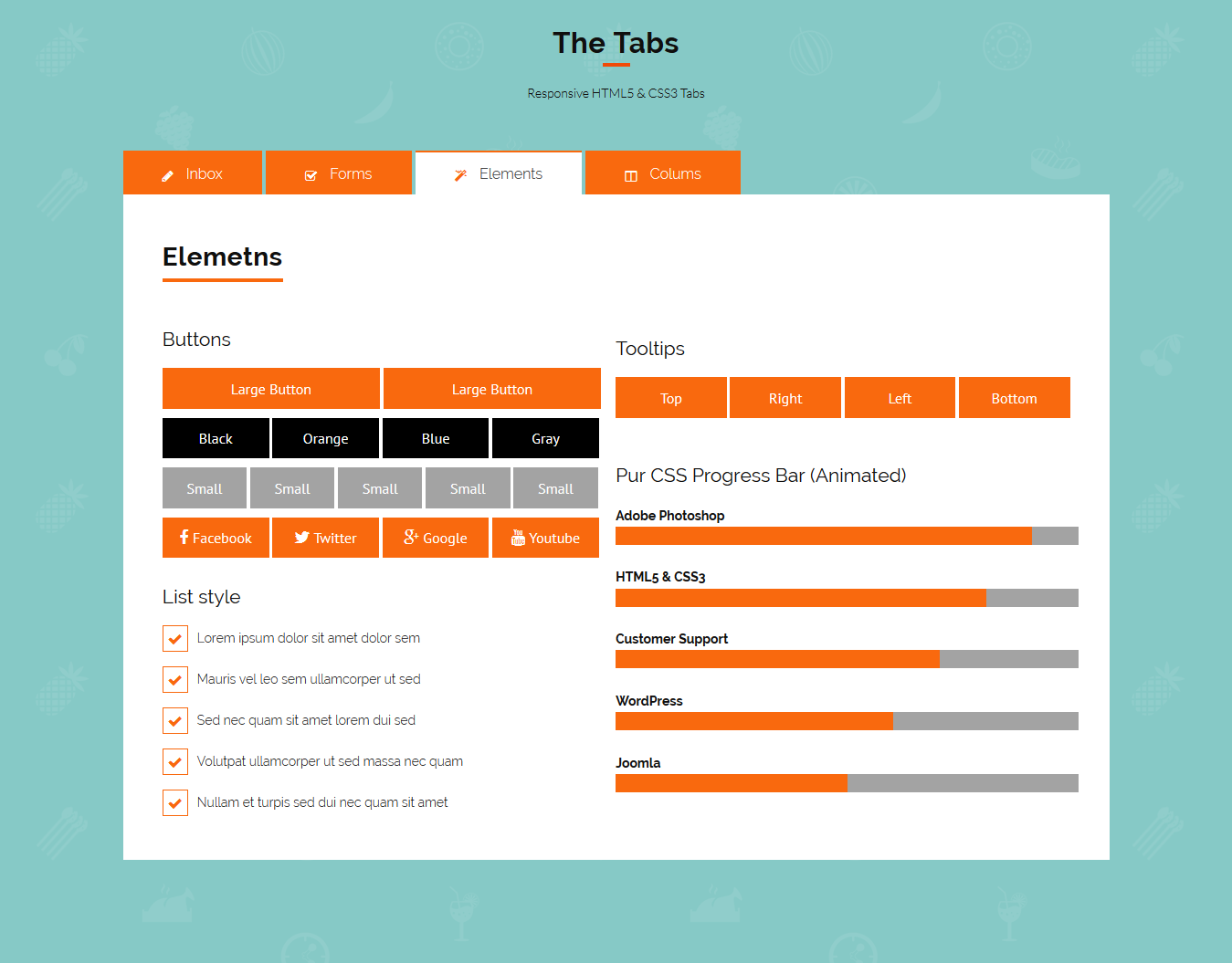 The Tabs - Responsive HTML5 & CSS3 Tabs