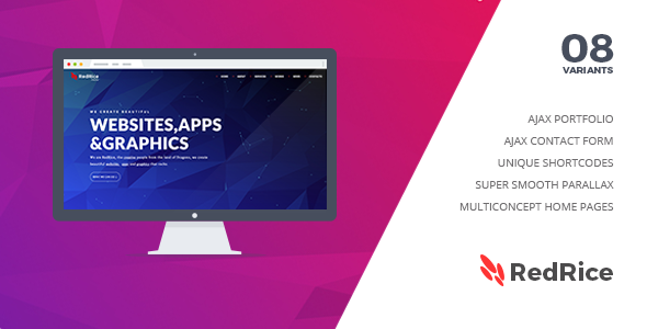 RedRice – One Page Multipurpose Joomla Template