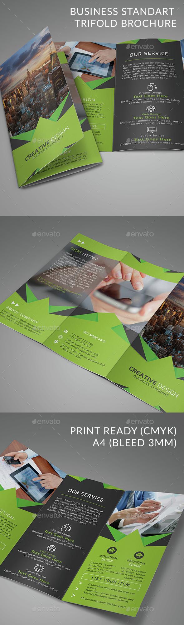 Business Standart Trifold Brochure - Brochures Print Templates