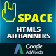 HTML5 Animated Banner Templates | «Space banner» - CodeCanyon Item for Sale