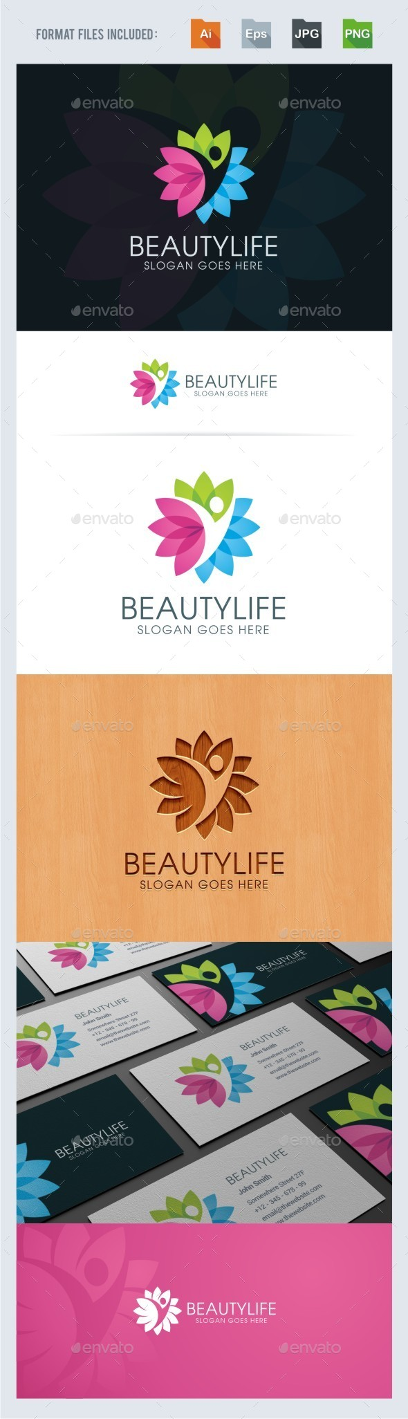 Beauty Life Logo Template - Humans Logo Templates
