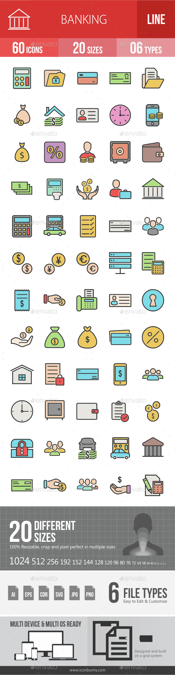 Banking Filled Line Icons - Icons