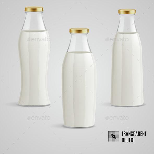 Milk Bottle - Food Objects