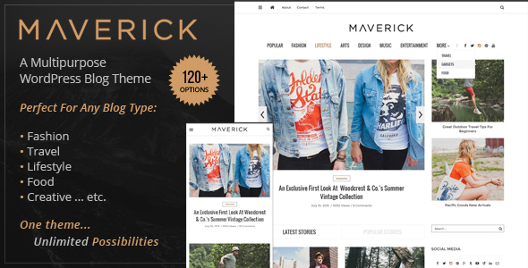 Maverick – Multipurpose WordPress Blog Theme