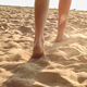 Woman`s Legs In The Beach Sand - VideoHive Item for Sale