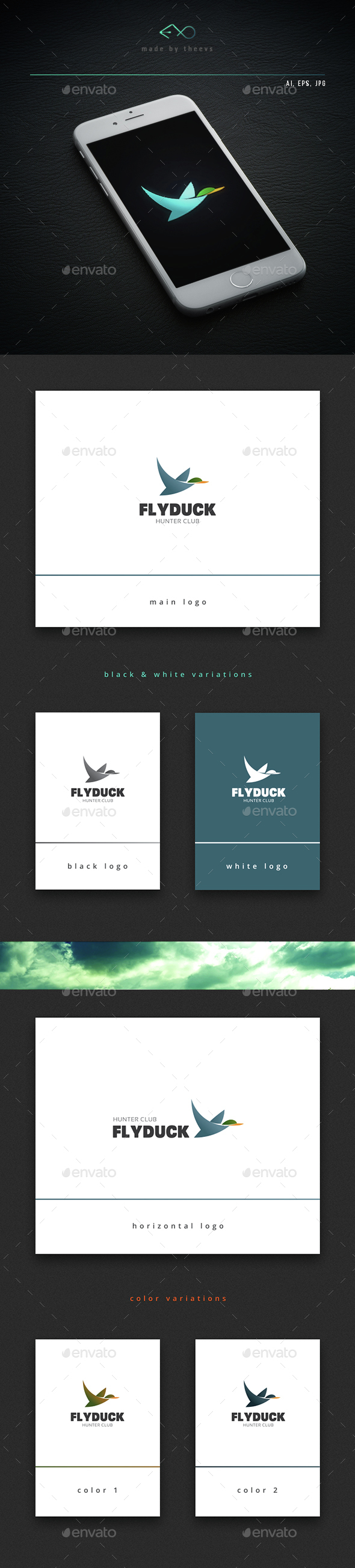 Flyduck - Animals Logo Templates