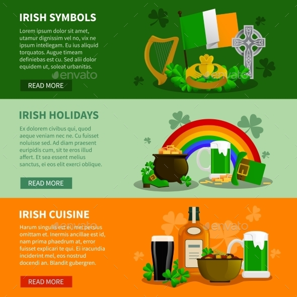 Ireland Horizontal Banners - Miscellaneous Seasons/Holidays