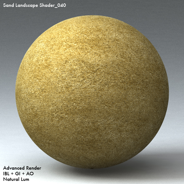 Sand Landscape Shader_040 - 3DOcean Item for Sale