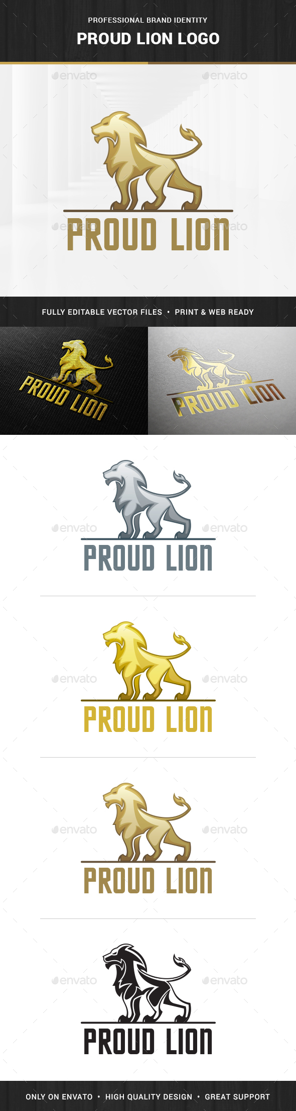 Proud Lion Logo Template - Animals Logo Templates