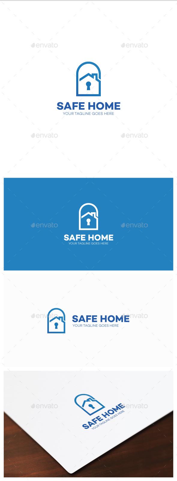 Safe Home Logo - Buildings Logo Templates