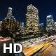Los Angeles and Freeway at Night