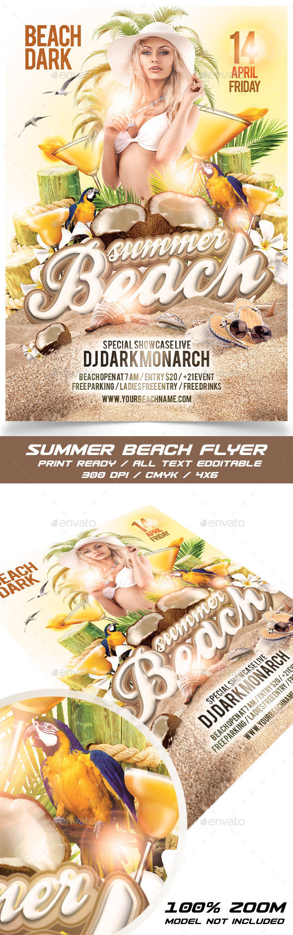 Summer Beach - Flyers Print Templates
