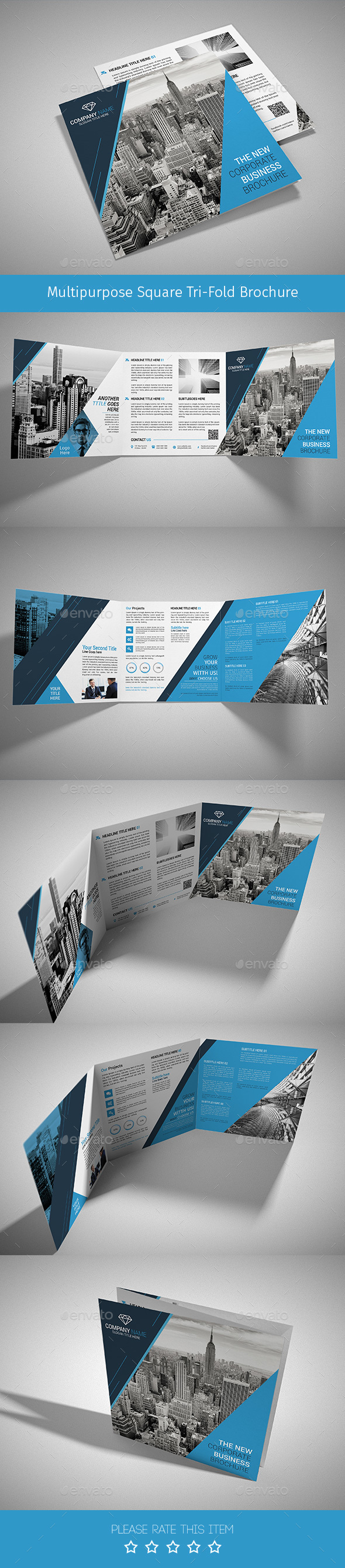 Corporate Tri-fold Square Brochure 06 - Corporate Brochures