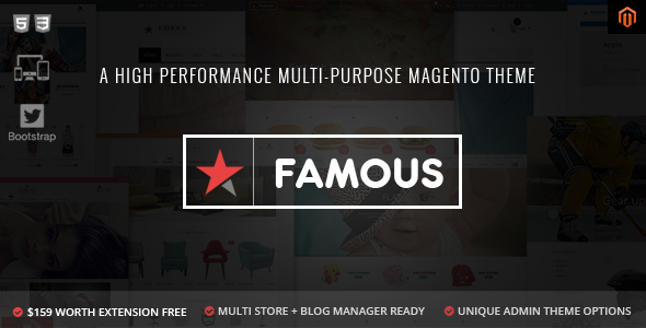 Famous – Responsive Multi-Purpose Magento Theme