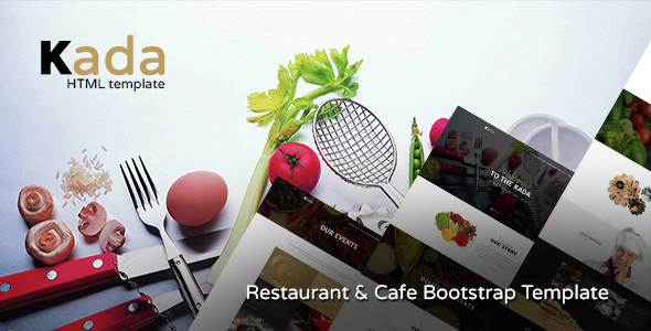 Kada – Restaurant & food Bootstrap Template