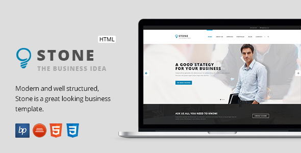 Stone – Responsive Business HTML5 Template