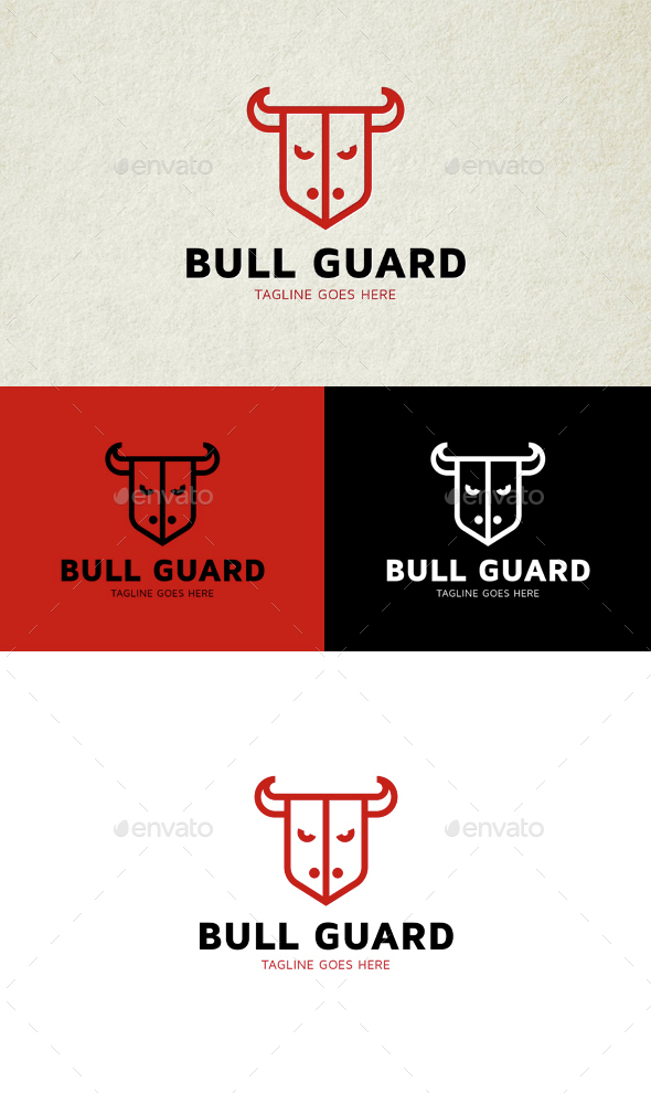 Bull Guard Logo - Animals Logo Templates