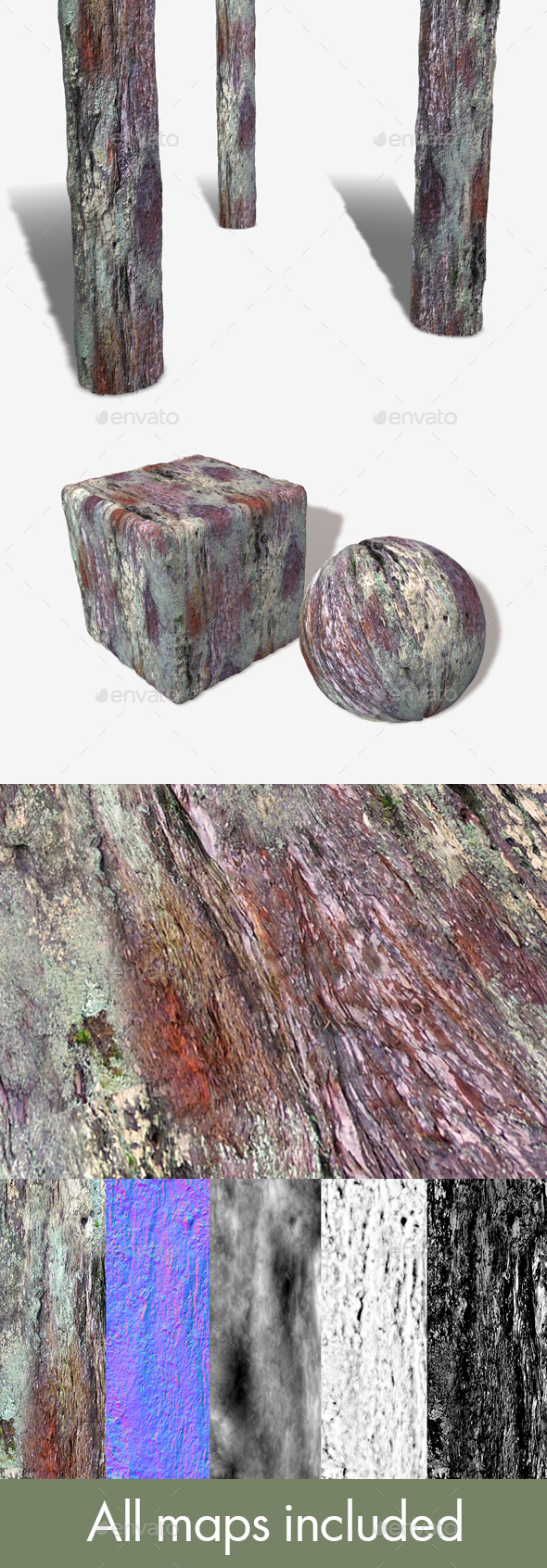 Bark Seamless Texture - 3DOcean Item for Sale