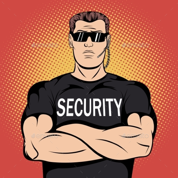 Security Guard Comics Design - Miscellaneous Vectors