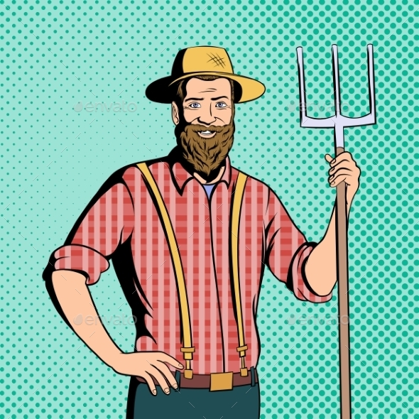Farmer Comics Character - Miscellaneous Vectors