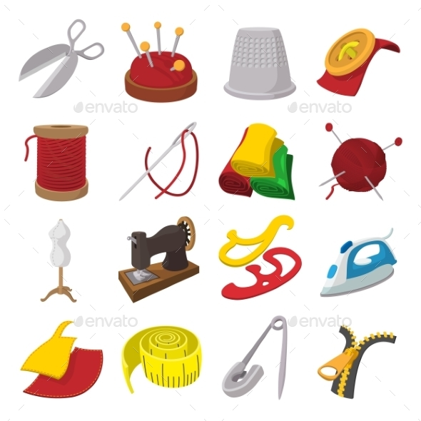 Sewing Cartoon Icon - Miscellaneous Icons