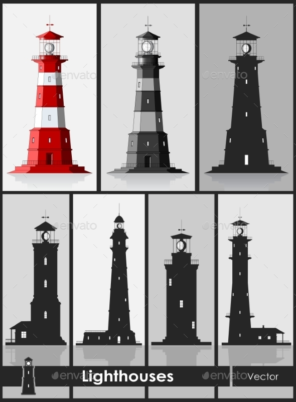 Set of Lighthouses - Buildings Objects