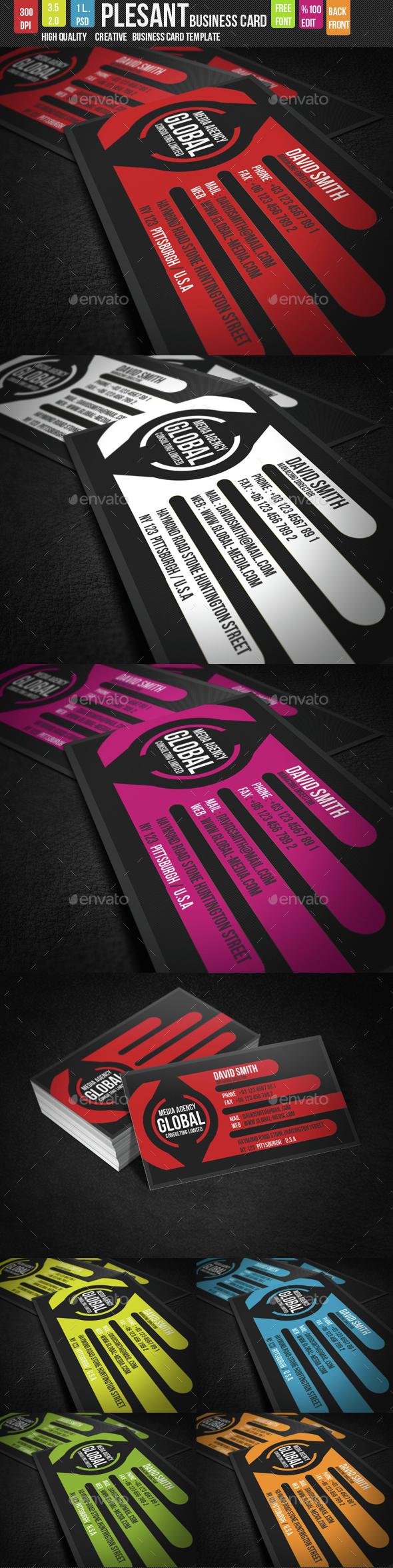 Pleasant Creative Business Card - Creative Business Cards