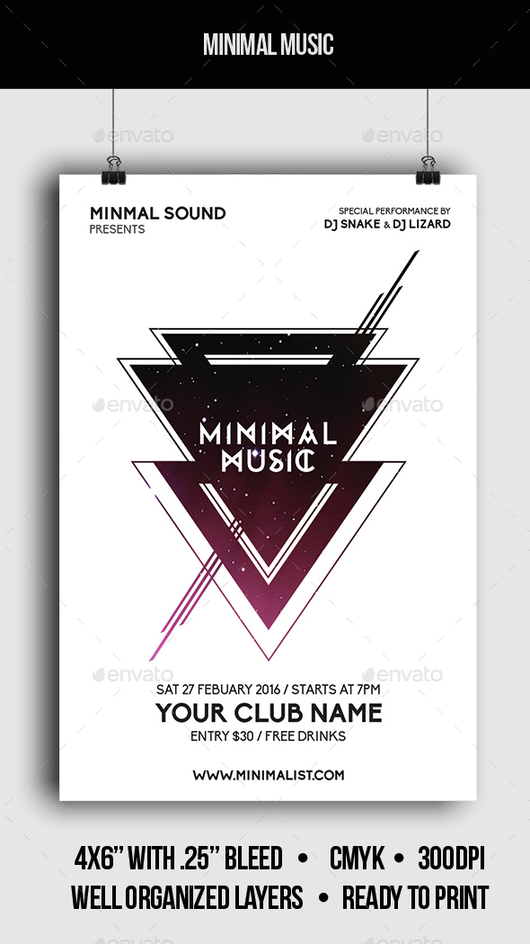 Minimal Music - Flyer - Clubs & Parties Events