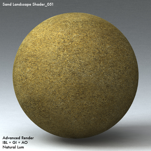 Sand Landscape Shader_051 - 3DOcean Item for Sale