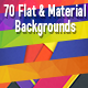70 Flat & Material Backgrounds Bundle - GraphicRiver Item for Sale
