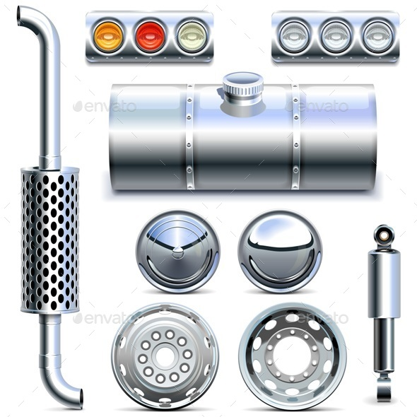 Vector Chromed Truck Parts Set 1 - Industries Business