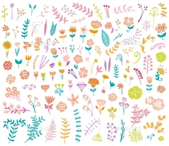 Wedding Vintage Elements - Flowers & Plants Nature