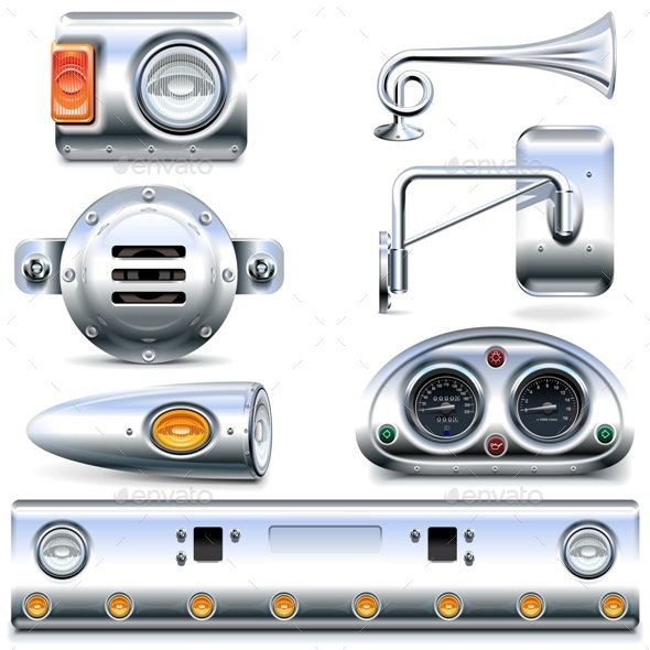 Vector Chromed Truck Parts Set 3 - Industries Business