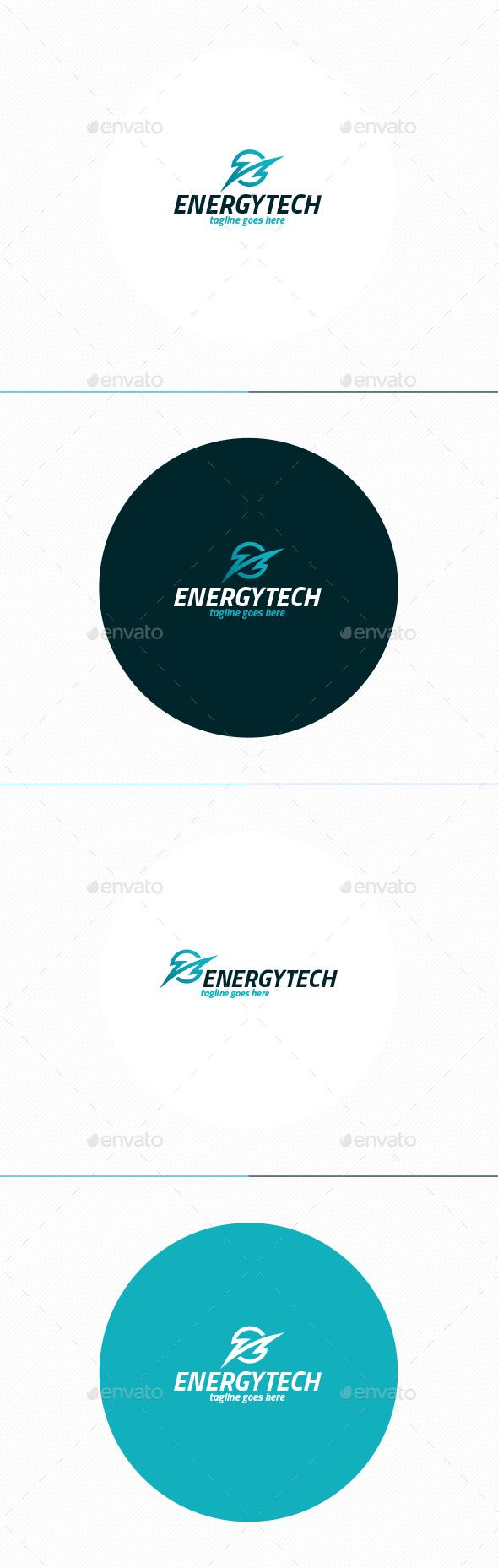 Energy Tech Logo - Vector Abstract