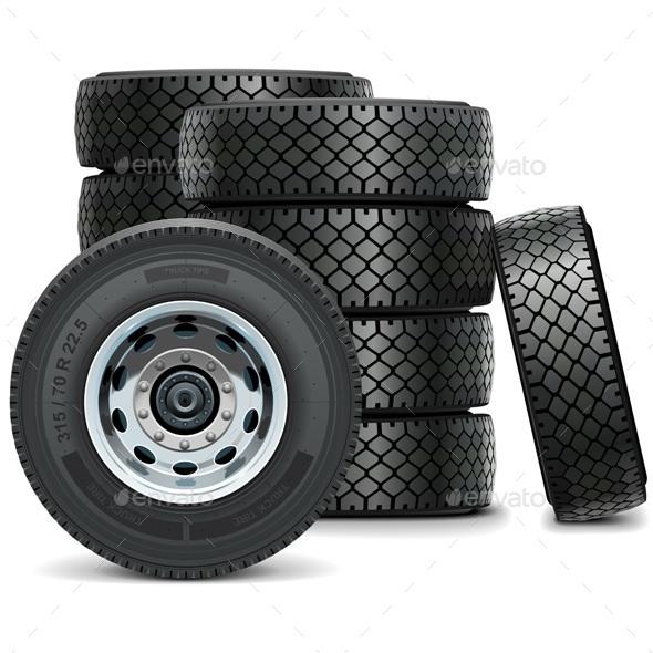 Vector Truck Tires - Industries Business