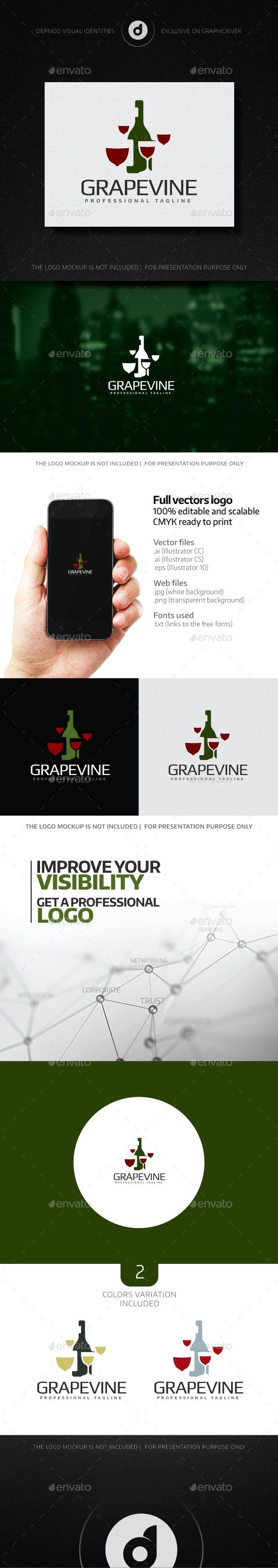 GrapeVine Logo - Food Logo Templates