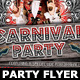 Carnival Club Party Flyer Template V3 - GraphicRiver Item for Sale