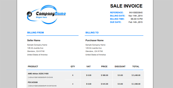 Nice PHP Invoice   PHP Class For Beautiful PDF Invoices   CodeCanyon Item For  Sale Regarding Invoice Pdf Generator