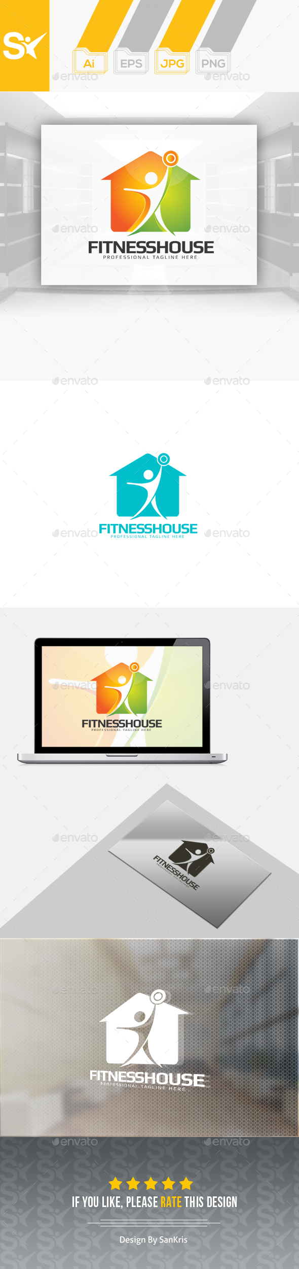 Fitness House Logo - Humans Logo Templates