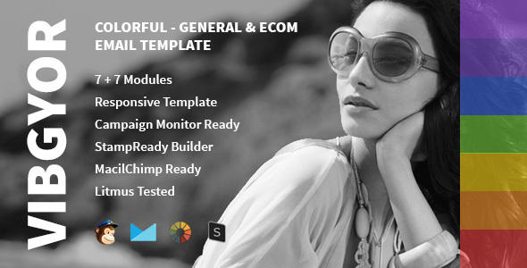 Vibgyor – Multipurpose Creative Email Template