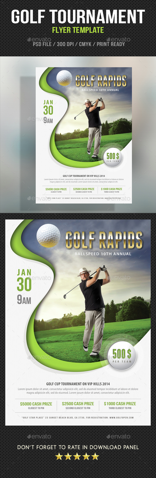Golf Flyer Template 06 - Events Flyers