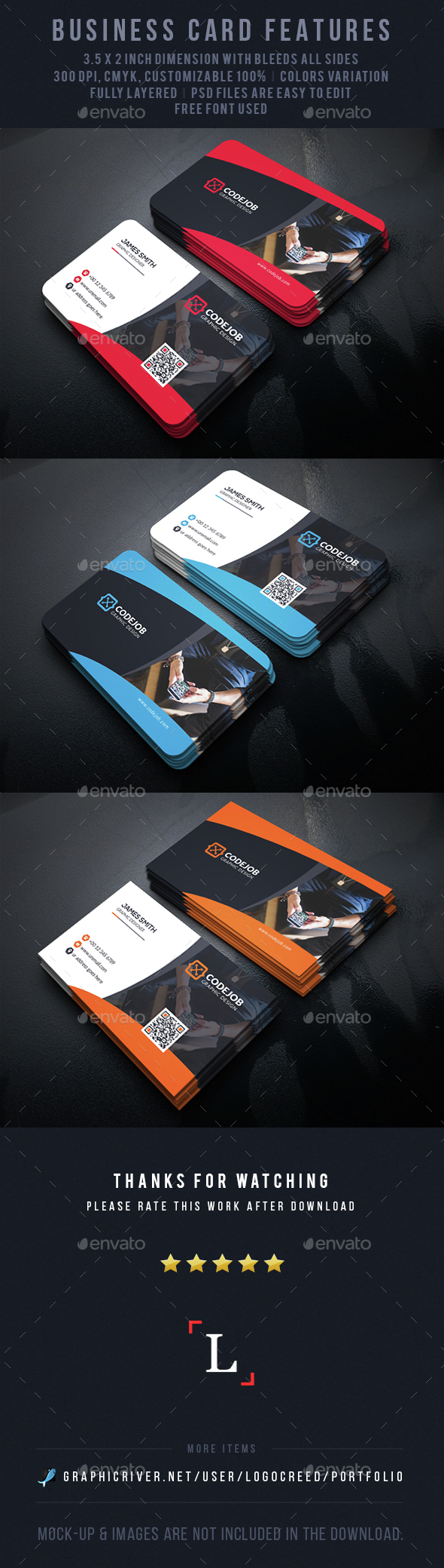 Creatives Business Card - Business Cards Print Templates
